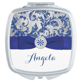 Winter Wonderland, PRINTED Buckle Compact Mirror For Makeup