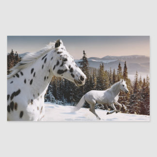 Winter Wonderland Rectangular Sticker