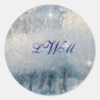 Winter Wonderland Round Sticker