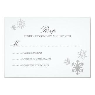 Winter Wonderland RSVP Card 9 Cm X 13 Cm Invitation Card