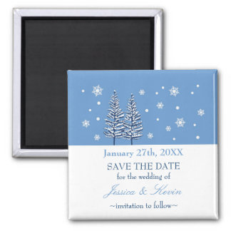 Winter Wonderland Save The Date Magnet