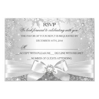 Winter Wonderland Silver RSVP Card