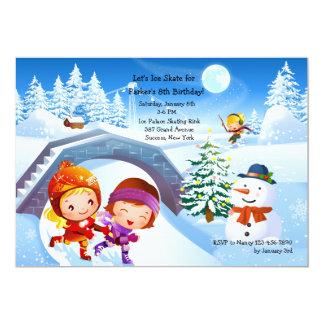 Winter Wonderland Skating Party Invitation