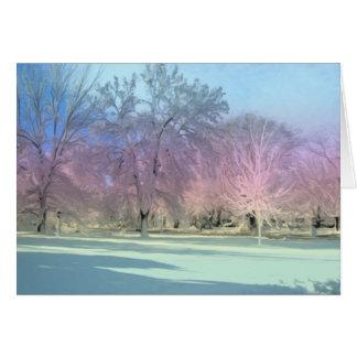 [Winter Wonderland] Snow Ice Trees [Blank Inside] Card