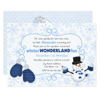 Winter Wonderland Snowman Birthday Card