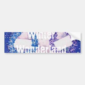 Winter Wonderland Snowman Bumper Sticker