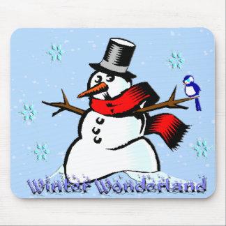 Winter Wonderland Snowman Mouse Pad