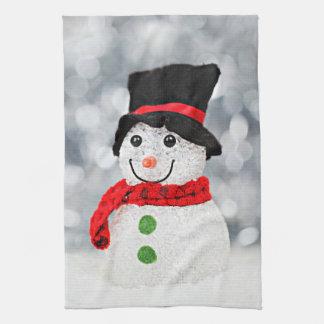 Winter Wonderland Snowman Tea Towel