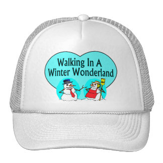 Winter Wonderland Snowmen Trucker Hats