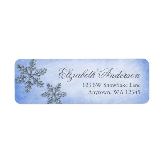 Winter Wonderland Sparkle Snowflake Address Labels