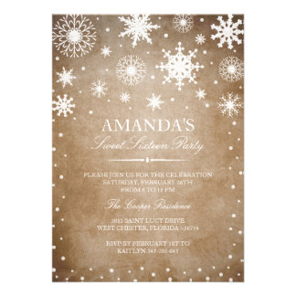 Winter Wonderland Sweet 16 Invitation