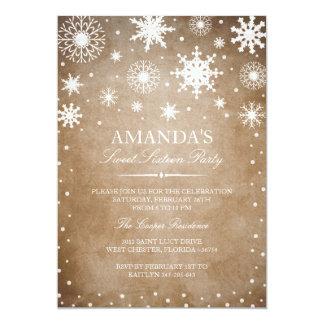 Winter Wonderland Sweet 16 Invitation