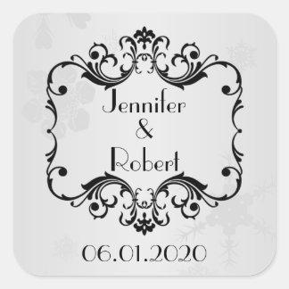 Winter Wonderland Wedding Envelope Seal Square Sticker