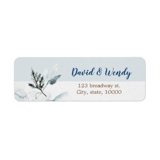 Winter Wonderland wedding return address label