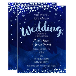 Winter Wonderland WEDDING Starry Sky Invitations