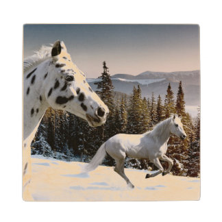 Winter Wonderland Wood Coaster