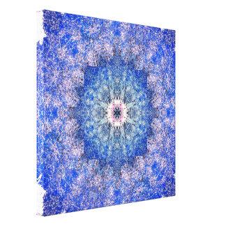 Winter Wonders Mandala Canvas Print