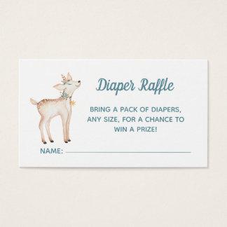 Winter Woodland Baby Shower Diaper Raffle Card