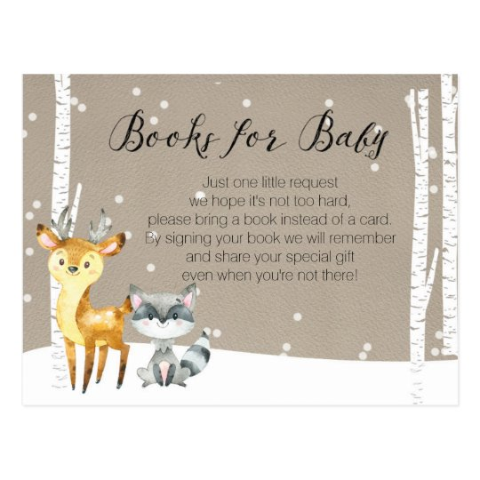 Winter Woodland - Books for Baby Postcard