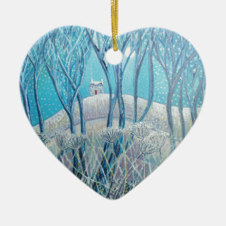 Winter Woodland Cottage Christmas Ornament