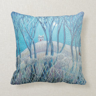 Winter Woodland Cottage Cushion