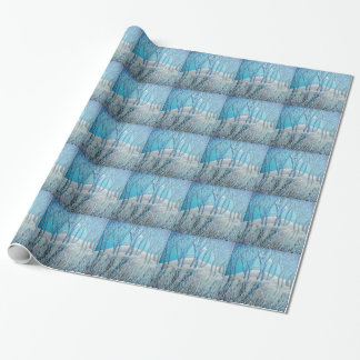 Winter Woodland Cottage Wrapping Paper