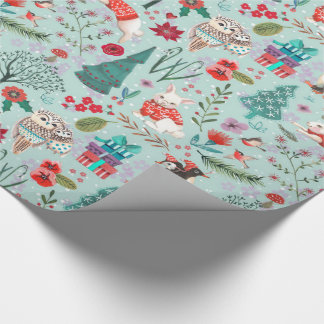 Winter Woodland Cute | Glossy Wrapping Paper