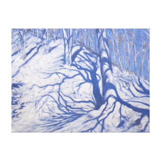 Winter Woodland near Courcheval 2008 Stretched Canvas Print
