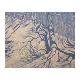 Winter Woodland near Courcheval 2008 Wood Wall Art