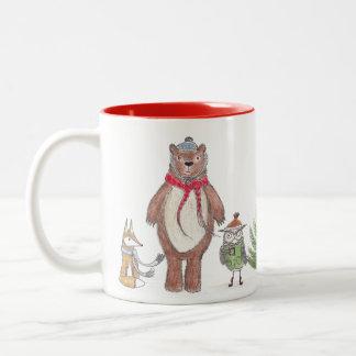 Winter Woodland Two-Tone Coffee Mug