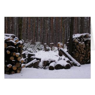 Winter Woods card