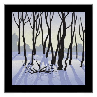 Winter Woods Poster