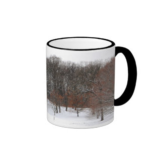 Winter woods. ringer coffee mug