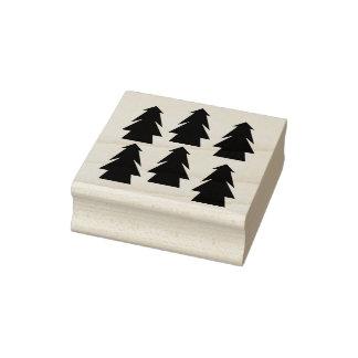 Winter Woods Samurai Forest Pine Tree Rubber Stamp