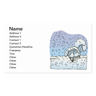 Winter World Double-Sided Standard Business Cards (Pack Of 100)