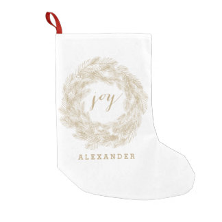 WINTER WREATH | JOY | STYLISH HOLIDAY STOCKING