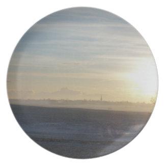 Winter Yorkshire Landscape Plate