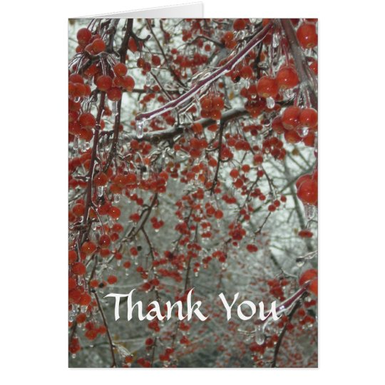 Winterberries Thank You Card