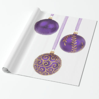 Winterberry Amethyst Purple Lavender Christmas Wrapping Paper