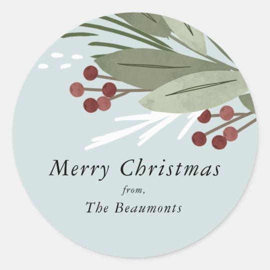 Winterberry Christmas Sticker