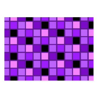 Winterberry Lavender Purple Harlequin Designer Large Business Cards (Pack Of 100)