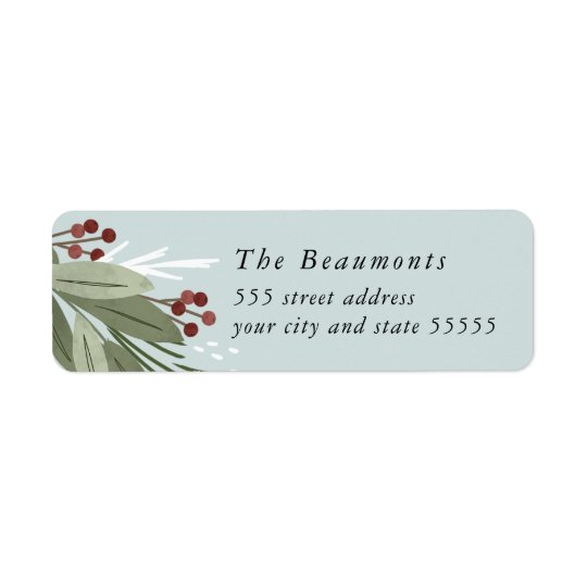 Winterberry Return Address Label