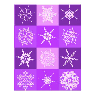Winterberry Snowflake Collection Designer Custom Flyer