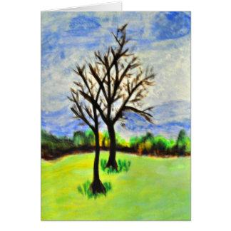 Wintering Pecan Trees in Georgia Card