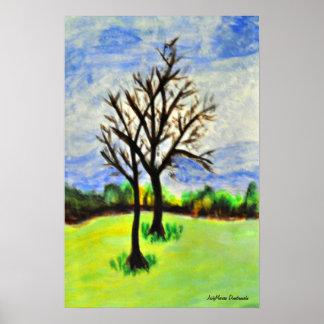 Wintering Pecan Trees in Georgia Poster