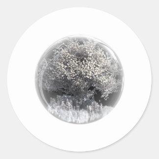 winterOrb Round Sticker