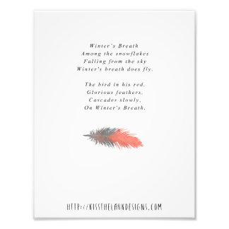 Winter's Breath - 8.5 x 11 Poetry Printable Photographic Print
