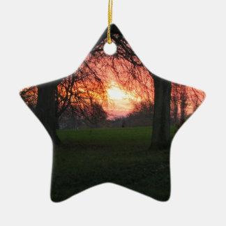 Winter's dawn 2 ceramic star decoration