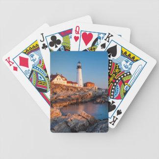 Winters dawn at Portland Head Lighthouse Card Deck