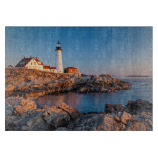 Winters dawn at Portland Head Lighthouse Cutting Board